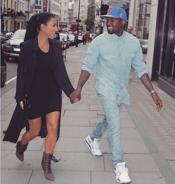 Kim Kardashian com o marido Kanye West (Foto: Instagram)
