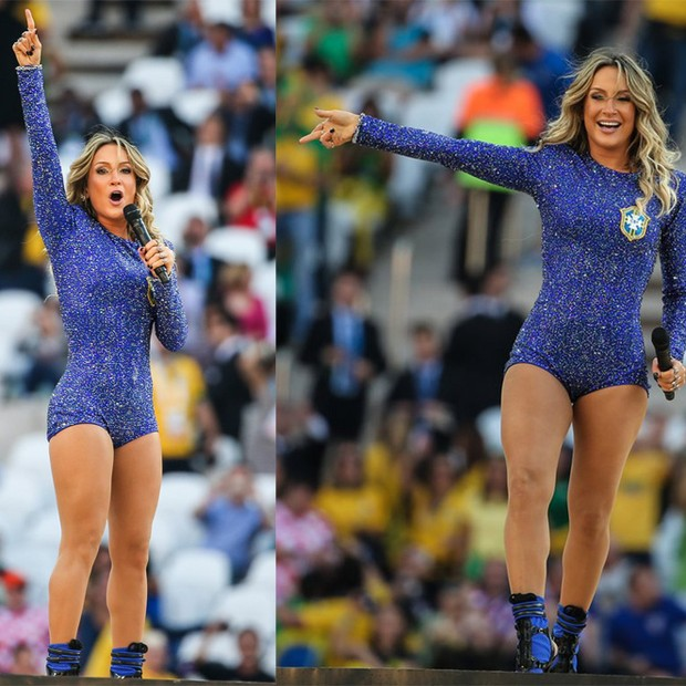 Claudia Leitte - body tipo patinadora (Foto: AG.News)