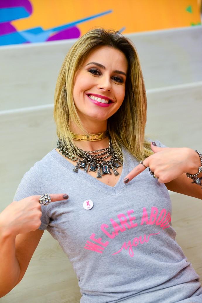 Daiane Fardin vestida para apoiar! (Foto: Priscilla Fiedler/RPC)