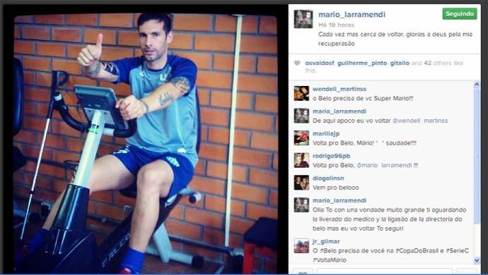 Mário Larramendi, zagueiro ex-botafogo (Foto: Reprodução / Instagram)