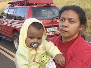 Aurimar perdeu hora e o filho não estava no veículo na hora do acidente (Foto: Reprodução / TV TEM)