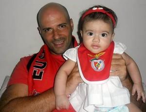 Paulo Morgado técnico e torcedor do Benfica (Foto: Divulgação)