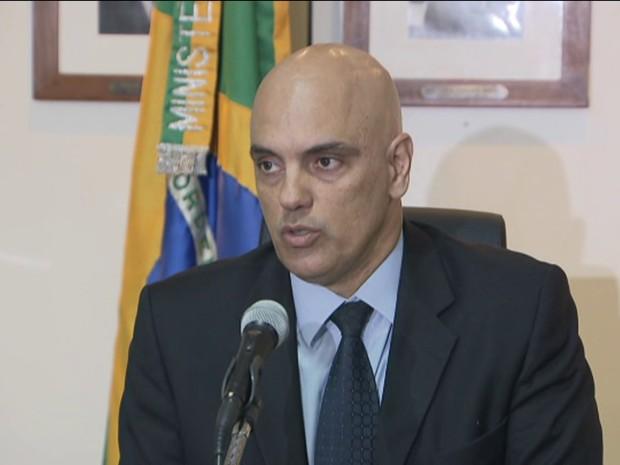 Ministro da Justiça, Alexandre de Moraes (Gnews) (Foto: GloboNews)