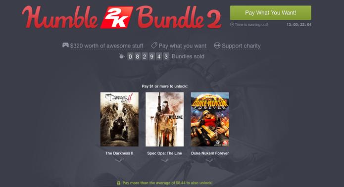 Humble Bundle tem games da 2k a preços bem baixos (Foto: Reprodução/Felipe Vinha)