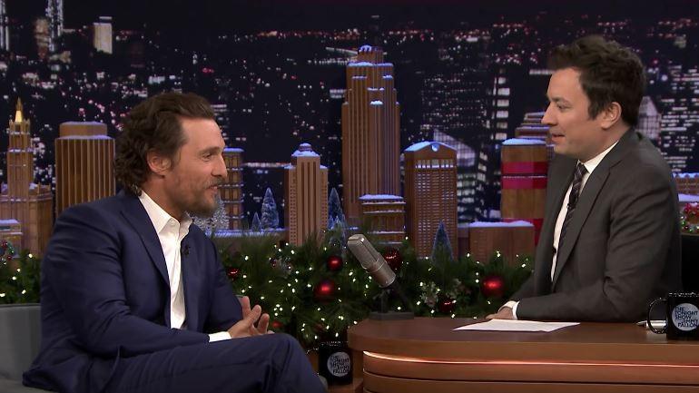 Matthew McConaughey no programa de Jimmy Fallon (Foto: Reprodução)
