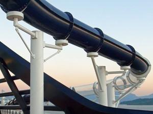 Toboágua do navio MSC Preziosa (Foto: Flávia Mantovani/G1)