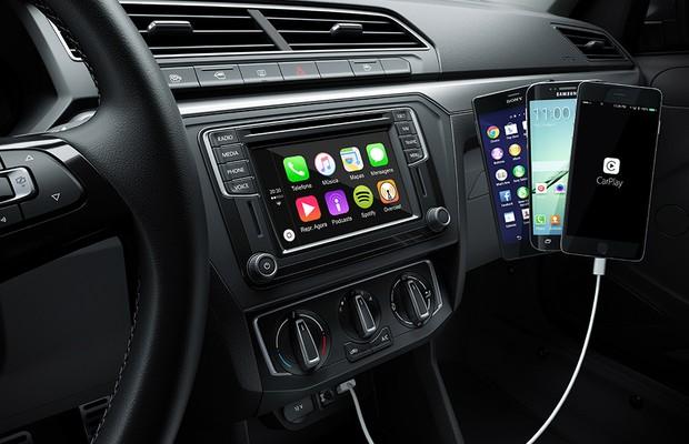 Painel com sistema multimídia do Volkswagen Gol 2017 (Foto: Volkswagen)