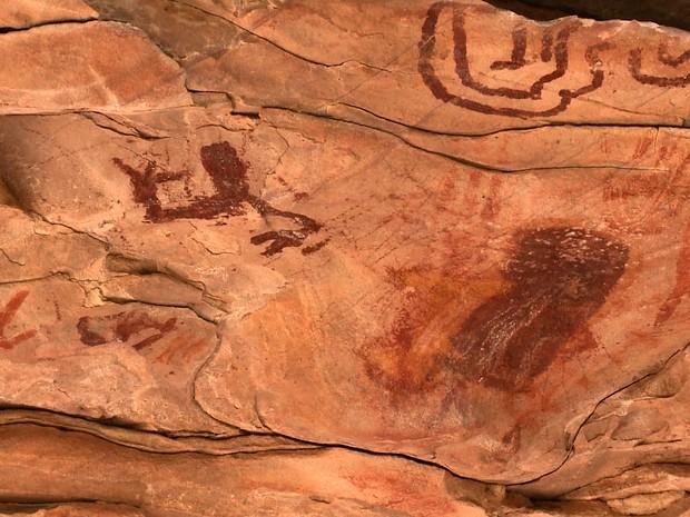 Síto Arqueológio da Serra da Capivara reúne arte rupestre (Foto: Reprodução/TV Clube)