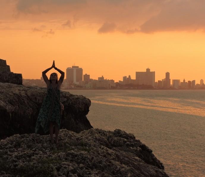 Coleguinha posa ao pôr-do-sol (Foto: Arquivo pessoal)