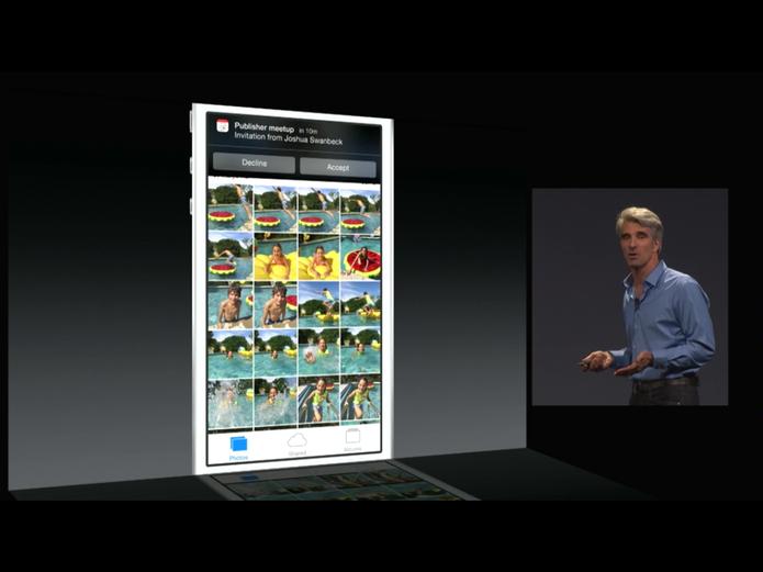 iOS 8 oferece a opção de responder a uma notificação sem abrir o aplicativo (Foto: Divulgação/Apple)