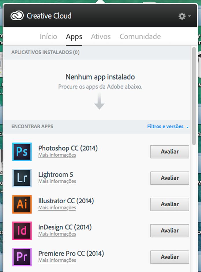 Lista de apps (Foto: Reprodução/André Sugai)
