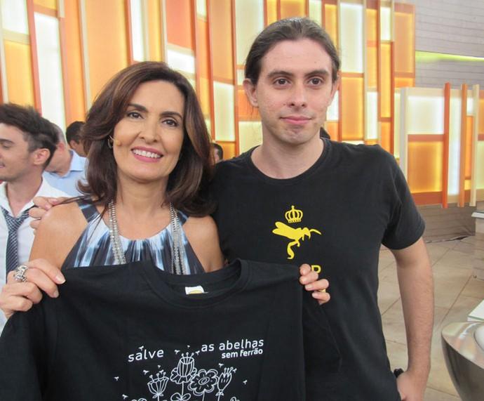 Convidado com a Fátima  (Foto: Priscilla Massena/Gshow)