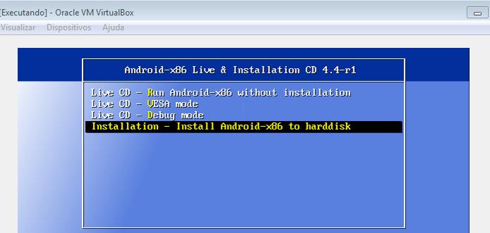 Iniciando a instalação do Android no VirtualBox (Foto: Reprodução/Edivaldo Brito)