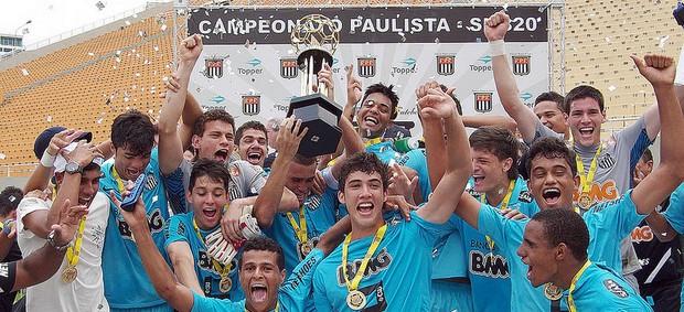 Santos campeão paulista Sub-20 (Foto: Pedro Ernesto Guerra Azevedo/Divulgação Santos FC)