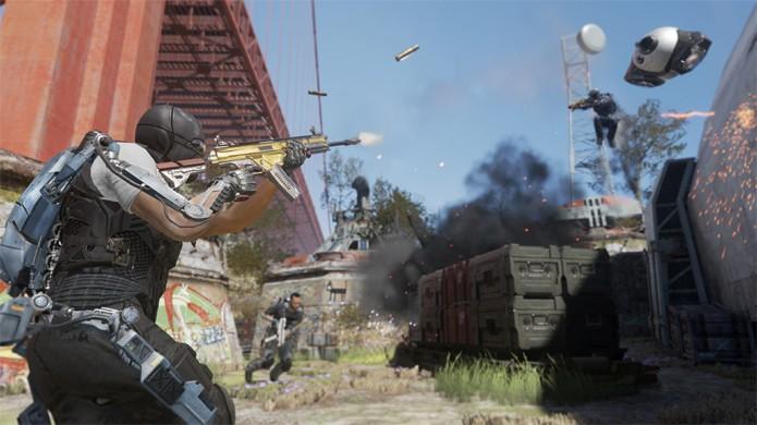 Prepare-se para lutar debaixo da ponte Golden Gate no mapa Defender de Call of Duty: Advanced Warfare (Foto: thisisxbox.com)