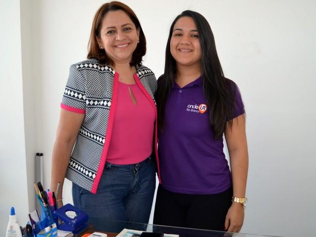 Mãe e filha decidiram investir em aplicativo que já conta com mais de 2 mil usuários (Foto: Quésia Melo/G1)