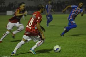 Sergipe derrotou o Itabaiana por 2 a 1 (Foto: Felipe Martins / GloboEsporte.com)