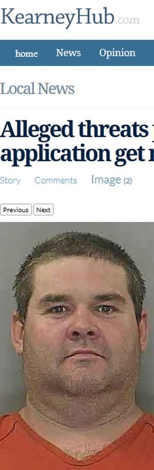 Jason Dornhoff, 38, foi preso por escrever ameaça em formulário de pedido de emprego (Foto: Reprodução)