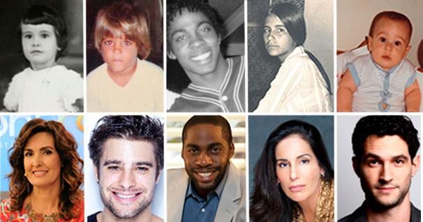 Artistas revelam seus sonhos de infância (Foto: (Fotos: Divulgação/Arquivos pessoais))