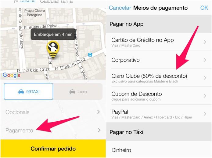 Em Pagar no App, verifique se há descontos disponíveis (Foto: Reprodução/Lucas Mendes)