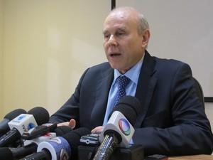 O ministro Guido Mantega disse, em entrevista nesta segunda-feira (21), que o leilão de Libra foi considerado um sucesso. (Foto: Simone Cunha/G1)
