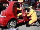Duas mulheres ficam feridas em batida na avenida W3, em Brasília