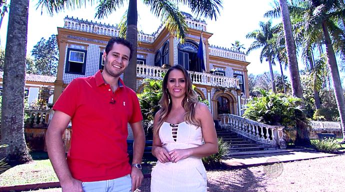 A Fazenda Morro Azul, em Iracemápolis, encanta com sua arquitetura (Foto: reprodução EPTV)