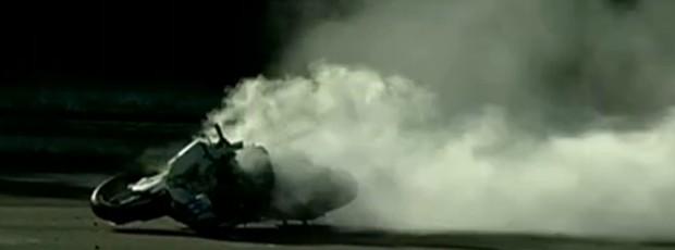 Acidente de moto que matou William Onzi (Foto: Reprodução SporTV)