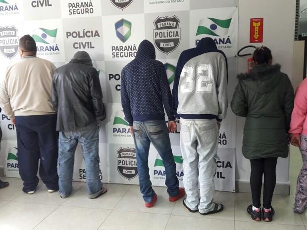 Segundo a polícia, 14 suspeitos já estavam presos e outros oito foram presos nesta sexta-feira (8) em Toledo, Cascavel, Ponta Porã e Dourados (Foto: Polícia Civil / Divulgação)