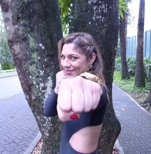 Bethe Pitbull sonha derrotar Ronda no UFC (Marcele Bessa / Gshow)