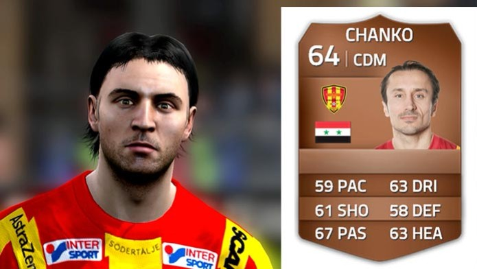 Chanko (Syrianska FC)  (Foto: Chanko (Foto: Reprodução/Murilo Molina))