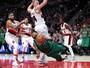 """""""Baixinho"""" dá as ordens, e Celtics passam pelos Blazers em Portland"""