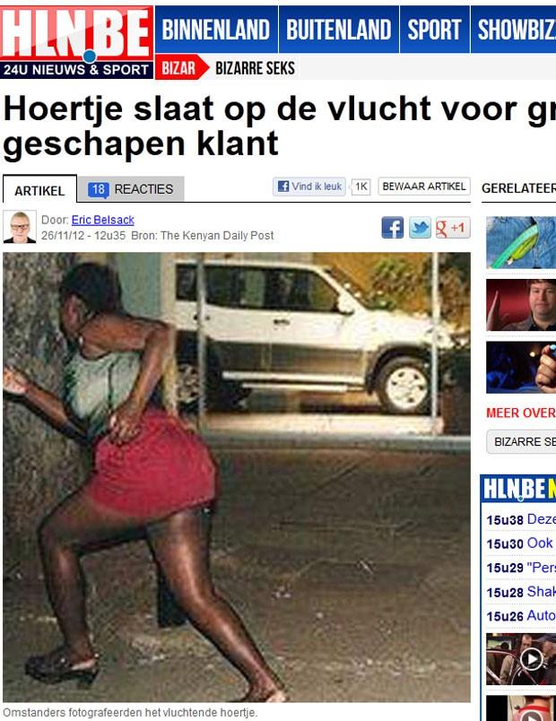 Prostituta fugiu após ficar assustada com tamanho de pênis de cliente. (Foto: Reprodução)
