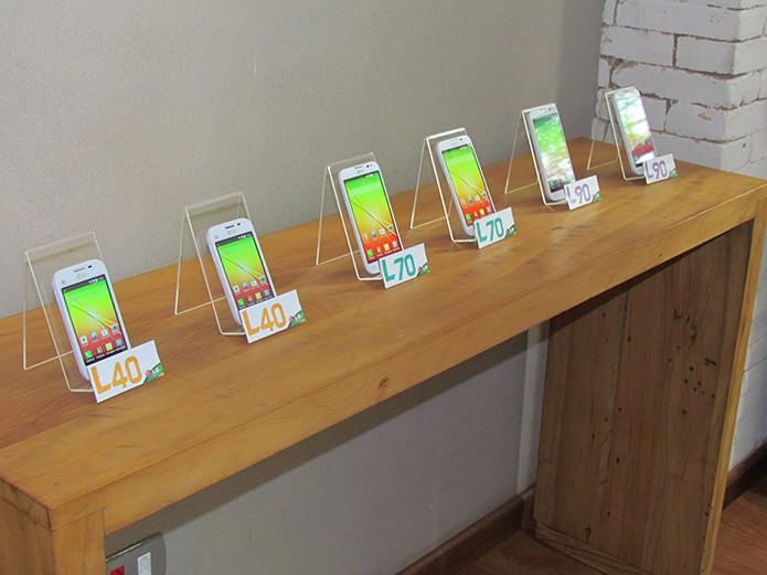 Série L3 da LG traz diversos modelos com Android 4.4, Knock Code e hardware intermediário (Foto: Paulo Alves/TechTudo)