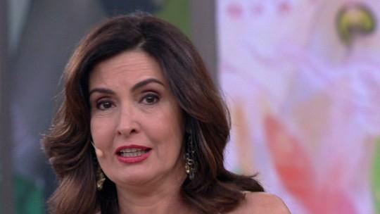 Fátima Bernardes se emociona no último 'Encontro' do ano