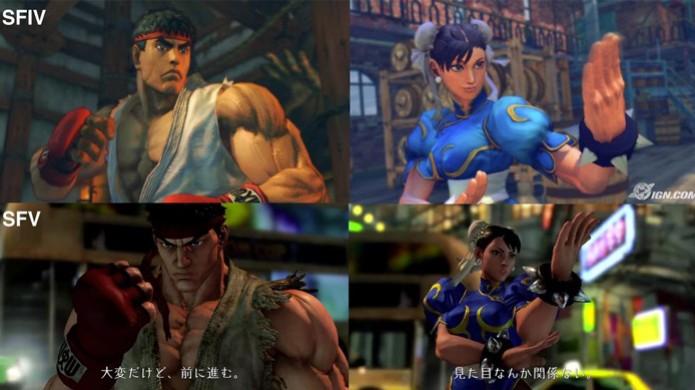 Veja a comparação entre os gráficos de Street Fighter 5 e o 4 (Foto: IGN / Reprodução: YouTube) (Foto: Veja a comparação entre os gráficos de Street Fighter 5 e o 4 (Foto: IGN / Reprodução: YouTube))