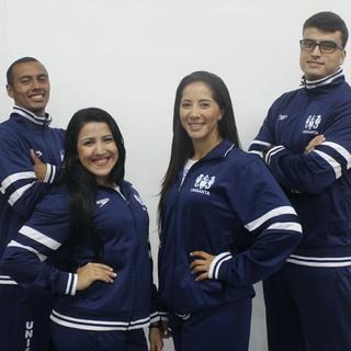 Equipe de caratê da Unisanta (Foto: Divulgação / Unisanta)