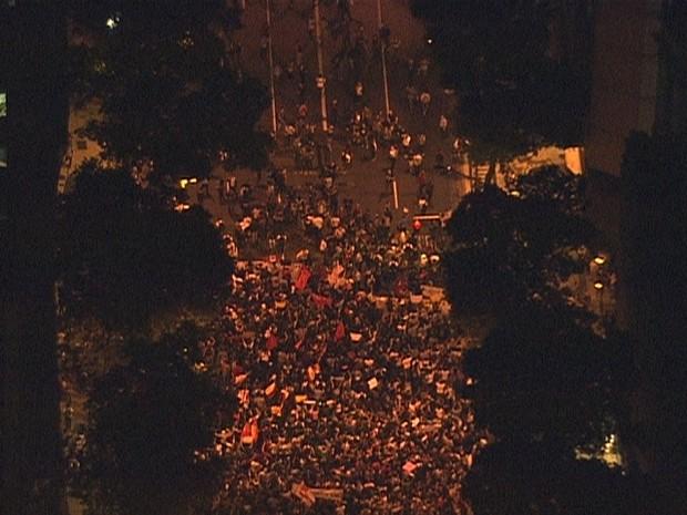 PM estima que 4 mil pessoas participem da manifestação (Foto: Reprodução/ TV Globo)