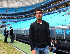 Riveros disputará vaga de titular no Grêmio de Luxa (Foto: Lucas Uebel/Grêmio FBPA)