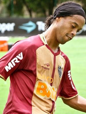 Ronaldinho Gaúcho no treino do Atlético-MG (Foto: Bruno Cantini / Site Oficial do Atlético-MG)