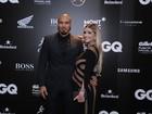 Ex-BBBs Fernando e Aline vão a premiação no Rio