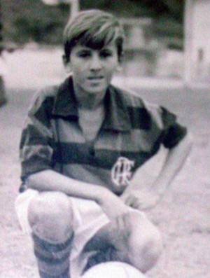 Especial Zico 60 anos - Zico em seu inicio no Flamengo (Foto: Arquivo pessoal)