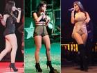 Cropped top, shortinho jeans, ankle boots... Confira como é o estilo de Anitta, dentro e fora dos palcos