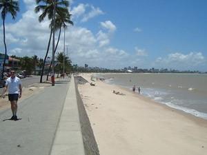 Praia de Manaíra, em João Pessoa (PB) (Foto: Krystine Carneiro/G1 PB)