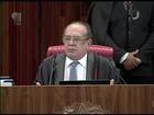Gilmar Mendes se despede da chefia do TSE com críticas à corrupção