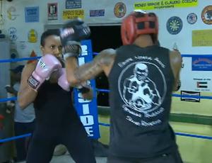 boxe feminino sportv repórter (Foto: Reprodução SporTV)