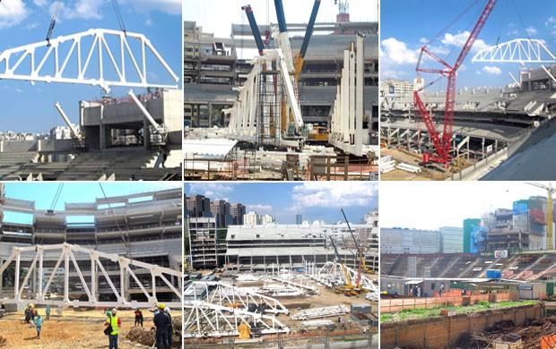 Mosaico Arena Palestra (Foto: Editoria de Arte / Globoesporte.com)