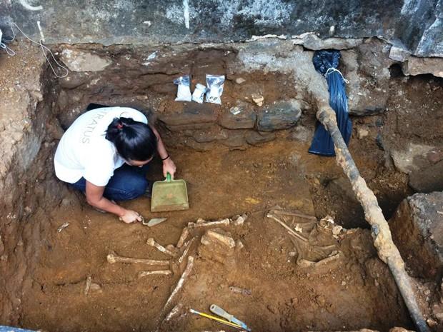 Vestígios do século XIX são encontrados em Mariana (MG) (Foto: Fiscalização Escritório Técnico do Iphan em Mariana/MG)