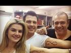 Mirella e Ceará fazem tatuagens idênticas para selar o relacionamento