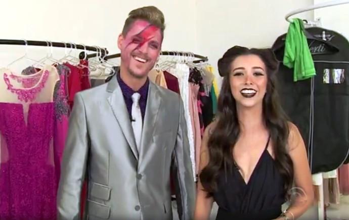 Bowie e Anitta no Mistura (Foto: RBS TV/Reprodução)